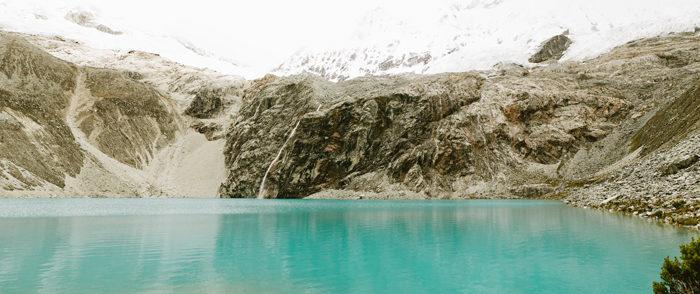 Llamas, Glaciers, The Andes // Huaraz, Ancash // Peru