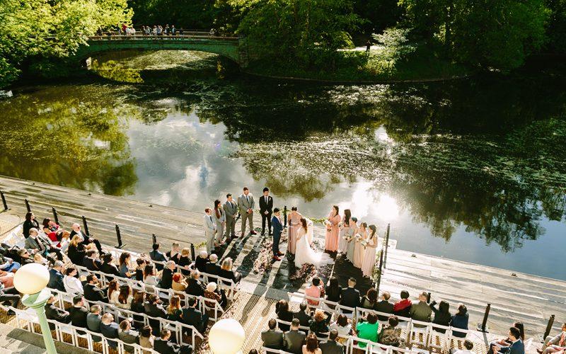 Maria + David // Prospect Park Boathouse Wedding